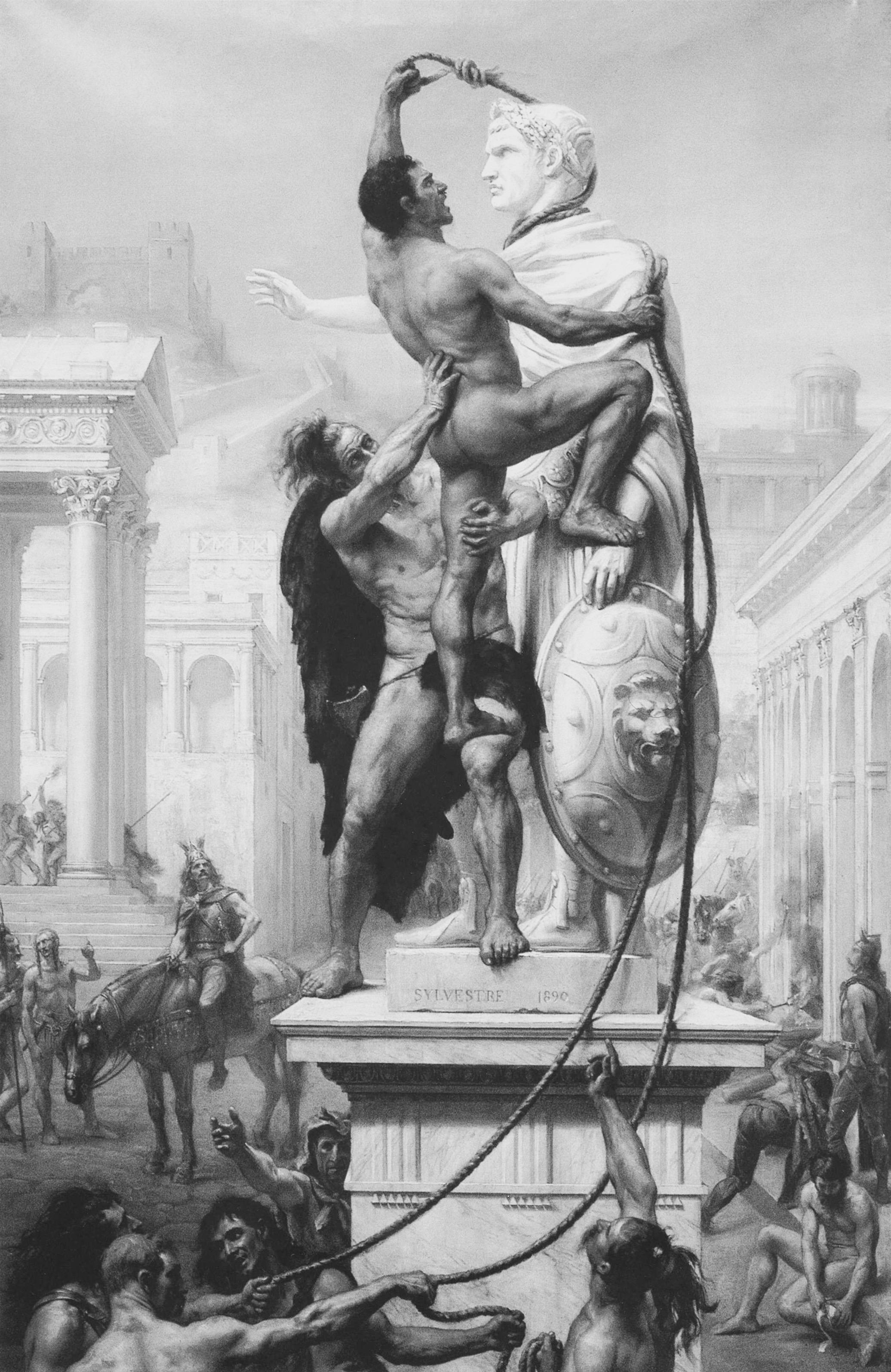 Histoire Joseph-Noël Sylvestre Le sac de Rome par les barbares en 410.jpg